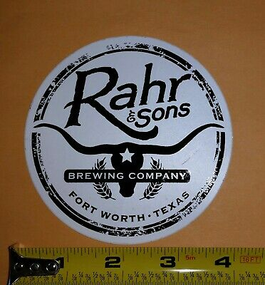 RAHR /& SONS Dadgum Fort Worth Ridin Danky STICKER decal craft beer brewing