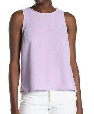 Vince Camuto Womens Tank Top Purple Large L Crepe Parisian Sleeveless $79- 199