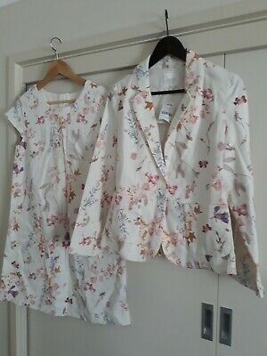 Next Girls 15 Years Two Piece Floral Dress And Jacket New With Tags