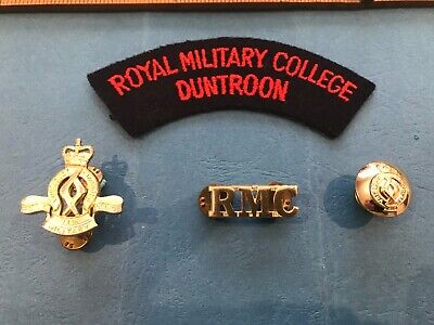 Original RMC Australian Royal Military College collection of badges