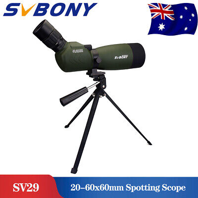 Spotting Scope Telescope SVBONY 20-60x60mm Zoom FMC 45°Angled BAK4+Tripod AU