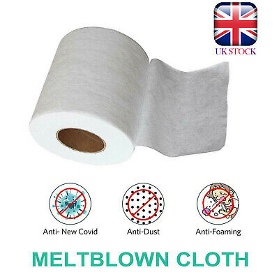 Melt-blown Nonwoven DIY Fabric Face Craft Filter Cloth 1M 5M 10M 20M UK Stock