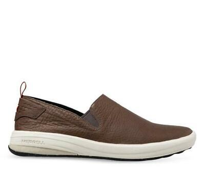Merrell Leather Gridway Slip On Shoes Sizes 12 13 14 Mens Casual Walking Shoes