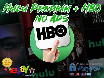 Hulu Premium + HBO + No Ads +  2 Year Warranty   Instant Delivery  Past Delivery