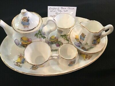 Miniature 9 pc English Bone China Tea set