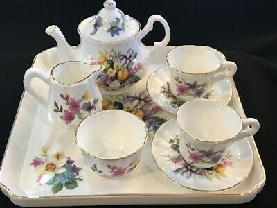 Shaffordshire Collection 9 pc Miniature Bone China Tea Set