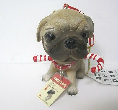 Fawn Pug Ornament by the The Dog Artist Collection