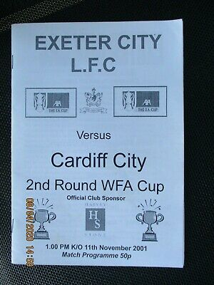 Exeter City Ladies v Cardiff City-WFA Cup 2001