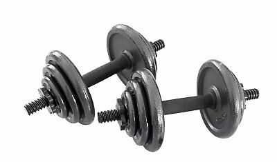 Opti Cast Iron Dumbbell Set - 20kg - Brand New & Boxed - Gym Weights