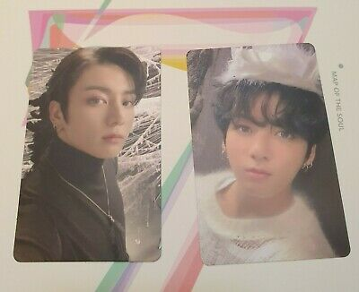Jungkook Jeon Set Bts Map Of The Soul 7 Version 1 + 2 On Official Photocard 2P