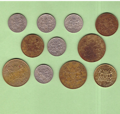 Kenya - Mixed Coin Collection Lot - World/Foreign/Africa