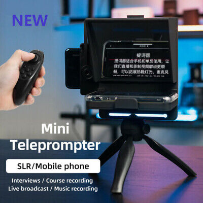 New Mini Teleprompter Portable Inscriber Mobile Artifact Video Remote