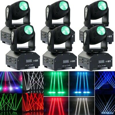 6X 60W RGBW Pinspot Moving Head Light LED DMX Stage Lighting DJ Disco Beam US