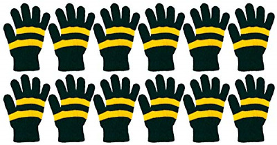 Winter Magic Gloves 12 Pairs Stretchy Warm Knit Bulk Pack Mens Womens Features