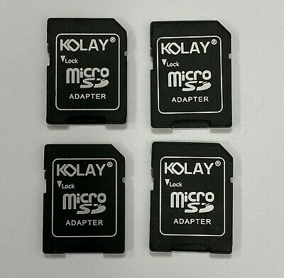 4 Pack Kolay Micro Sd Sdhc Memory Card Adaptor Adapter Converter To Standard Sd