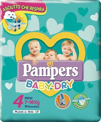 PAMPERS BABY DRY MAXI TG. 4 (7-18 Kg)  PZ. 152