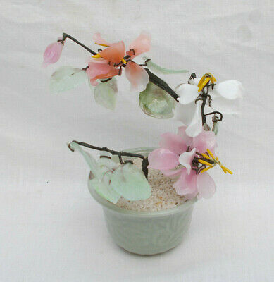 Ornamental Japenese / Oriental Glass Bonsai Tree - Lot A