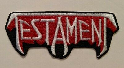 Testament Embroidered Iron-on Thrash Metal Band Patch