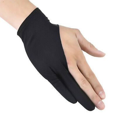 Two Fingers Anti-Fouling Glove For Artist Drawing & Pen Graphic Tablet Pad US s5