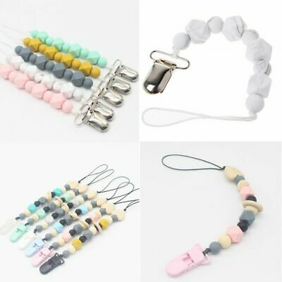 Pacifier Clips Pacifier Teething Baby Teether Chain Clip Bead Dummy Holders