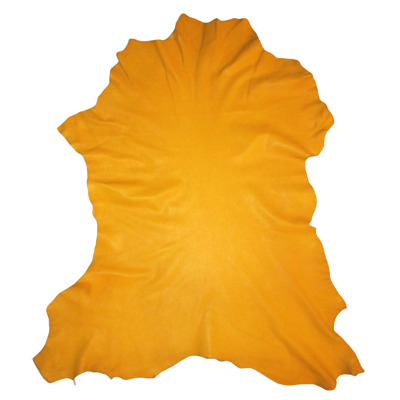Golden Yellow Crafting Goatskin Leather Hide Goat Skin w/ Character