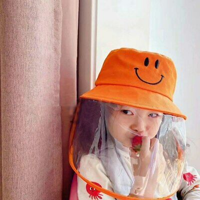 Children Anti-fog Hat Smiley Protective Fisherman Visor Cotton Sun Cap Hats