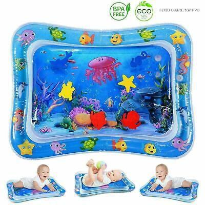 Inflatable Water Play Mat Infants Baby Toddlers Children Fun Tummy Time Play