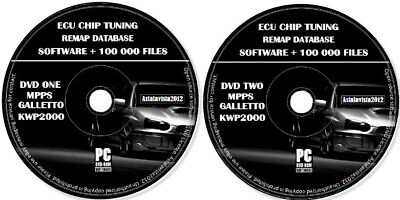 ECU Chip Tuning Files 100k+ Remap Database & Software Mpps Galletto Kwp2000 DVD