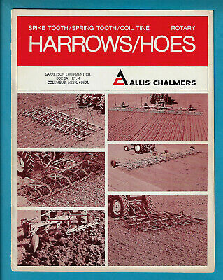 Allis-Chalmers Harrows & Rotary Hoes 12 Page Brochure