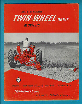 Allis-Chalmers Twin-Wheel Drive Mowers 8 Page Brochure