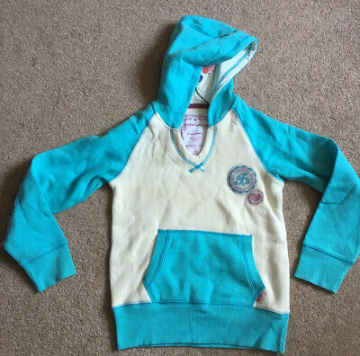Free Spirit cream and blue V Neck hoodie 7-8 Years New with Tags