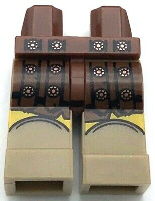 SW Chief Tarfful #L56 Lego Dark Brown Hips and Legs with Dark Tan Fur Pattern