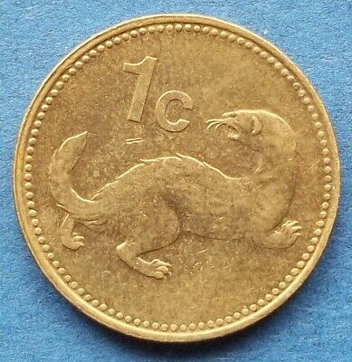 "MALTA - 1 cent 1998 ""common weasel"" KM# 93 Reform coinage - Edelweiss Coins"