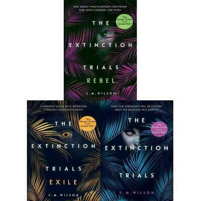 S.M. Wilson collection 3 books Set The Extinction Trials Series Pack Book NEW