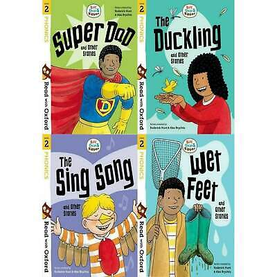 Read with Oxford Stage 2 Biff, Chip and Kipper 4 Books Collection Set Super Dad