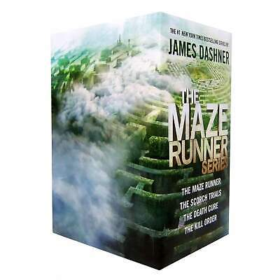 The Maze Runner Series 4 Books Set Collection By James Dashner - Hardcover Pack