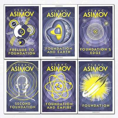 Isaac Asimov Foundation Series 6 Books Collection Set Pack Foundations edge NEW