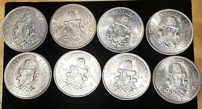 8x LOT OF Bermuda Silver Crown 1964 see pictures for condition
