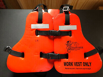 WV-10 Seahorse Taylortec Type V Vinyl Coated Flotation Work Vest - Excellent