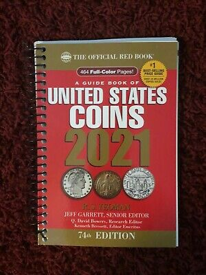 2021 Official Red Book Spiral Guide Book of United States Coins 74th Ed Ship Now