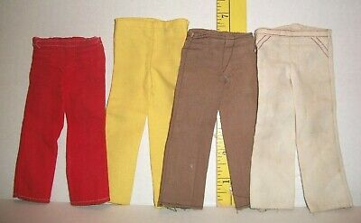 VINTAGE Barbie MOD ERA KEN PANTS SLACKS LOT ALL TLC 4 PAIRS AS SHOWN 1970S