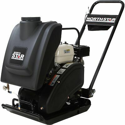 NorthStar Single-Direction Plate Compactor w/Water Tank w/Honda GX160 Engine