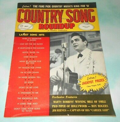 1959 Country Song Roundup Magazine with Johnny Cash Cover