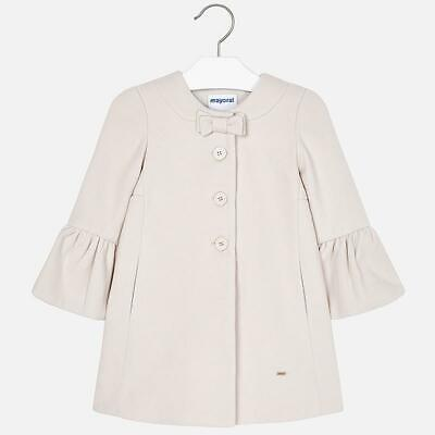 New Mayoral Beige Fully Lined Girls Coat Spanish Style rrp £59.50