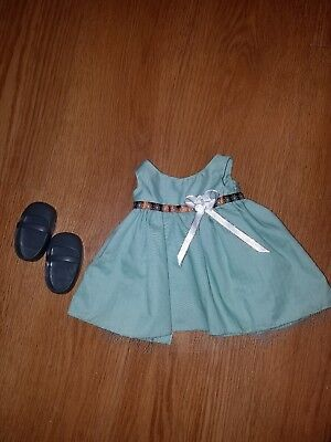Mint green sundress shoes fits american girl 18 inch doll dress outfit