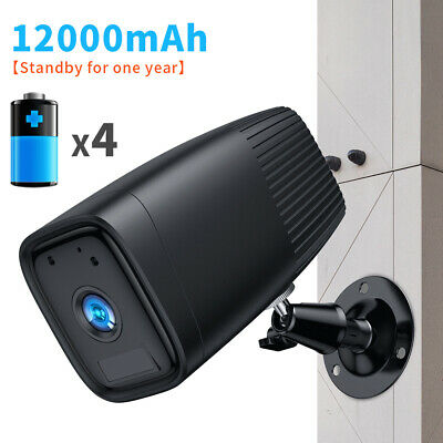 1080P Outdoor Home Security Camera CCTV Wireless WIFI IP Rechargeable Battery