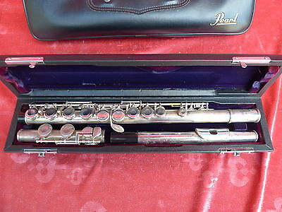 Old Flute __ Pearl __67cm__ Perarl Musical Instrument Co __ 501__ with Suitcase