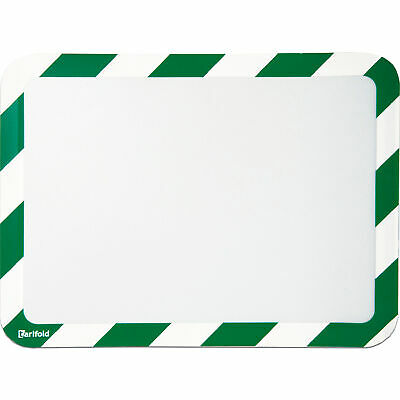 Tarifold Magneto Magnetic Safety Display Pocket 2-Pack Green/White 10inLx12inW
