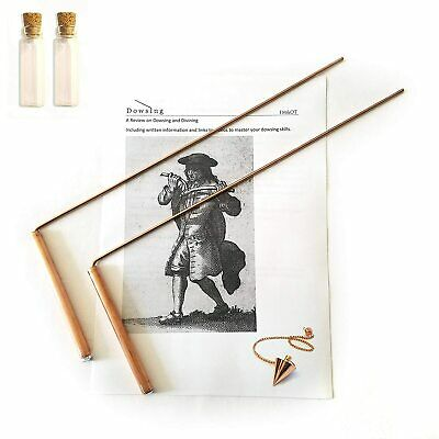Dowsing Rod Copper -Solid Material 99% - Ghost Hunting, Divining Water, Gold, -