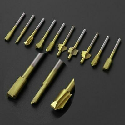 Titanium Mini Hss Router Bits Trimmer Shank For Dremel Rotary Tools 10Pcs/Set 3m